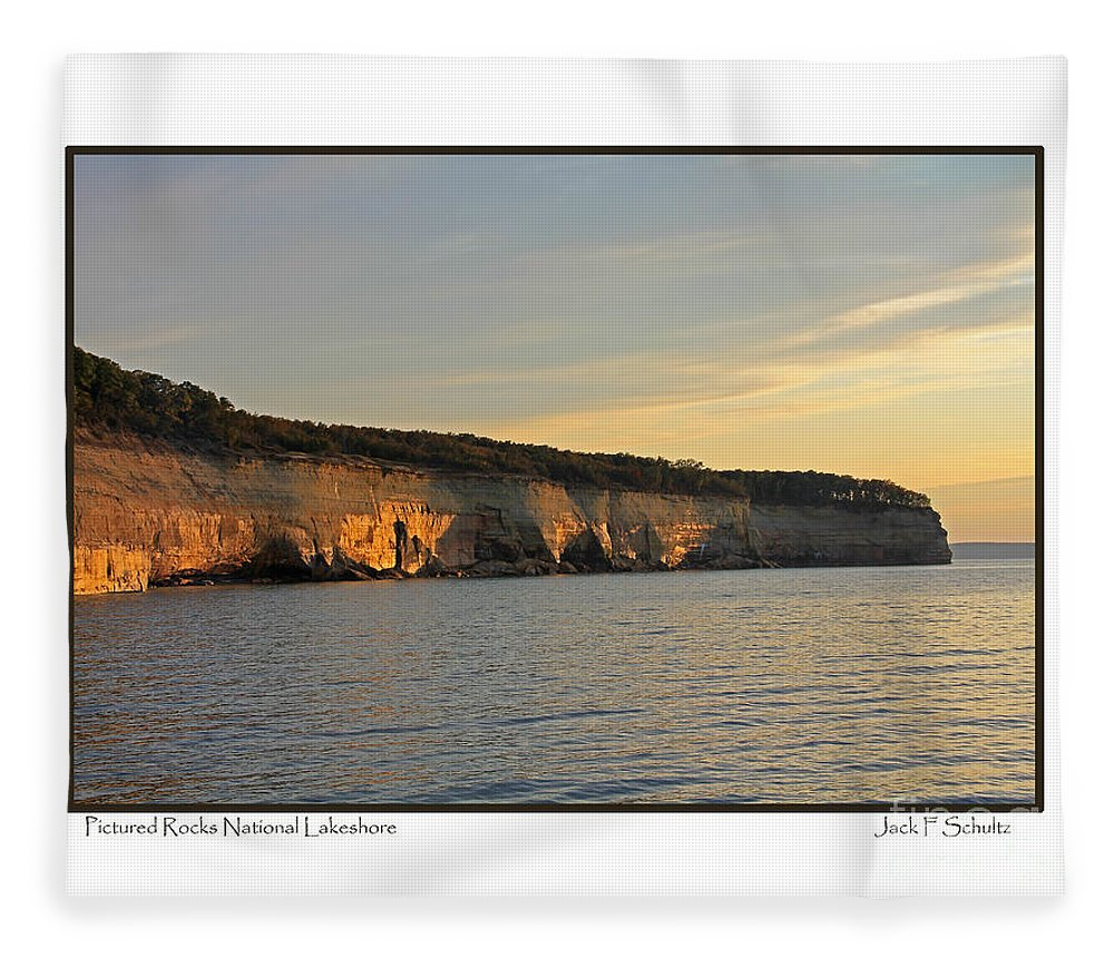 Pictured Rocks National Lakeshore Fleece Blanket featuring the photograph Pictured Rocks National Lakeshore by Jack Schultz
