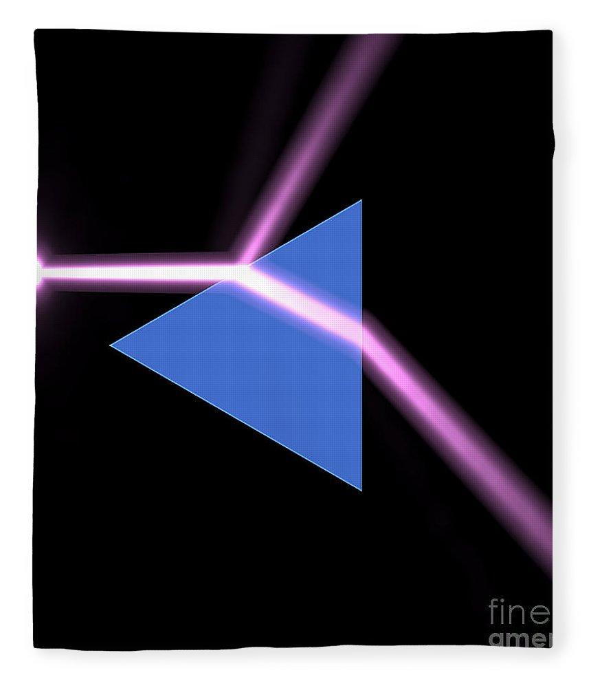 Beam Fleece Blanket featuring the digital art Prism 3 by Russell Kightley