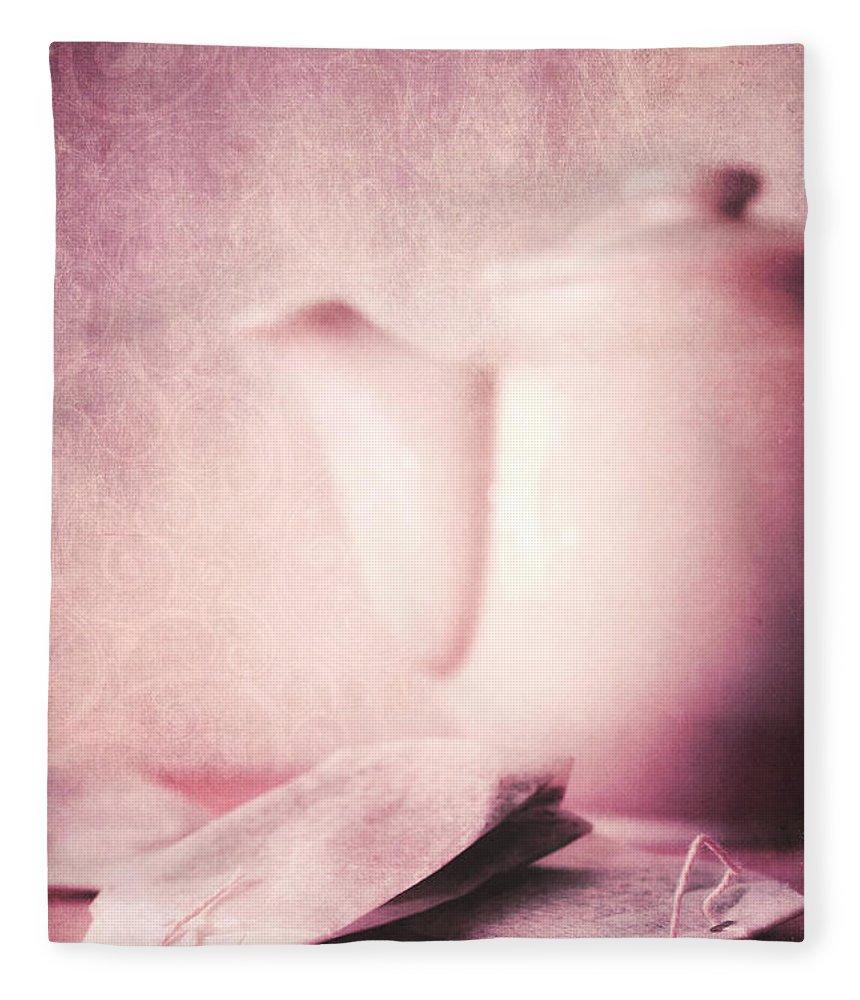 Tea Fleece Blanket featuring the photograph Relaxing Tea by Priska Wettstein