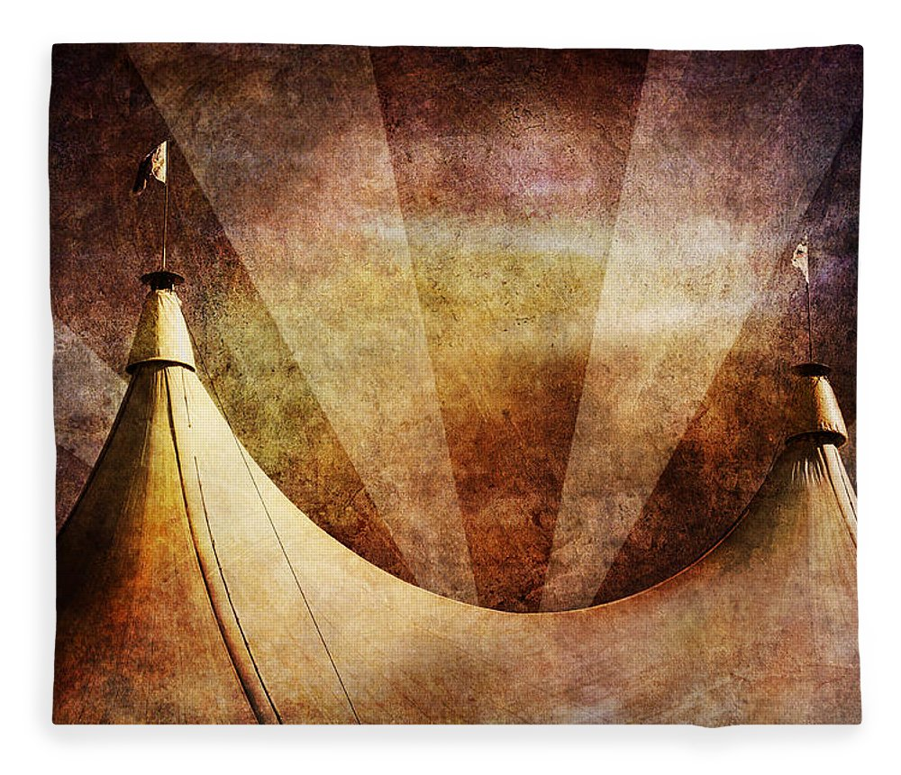 Circus Fleece Blanket featuring the photograph Showtime by Andrew Paranavitana