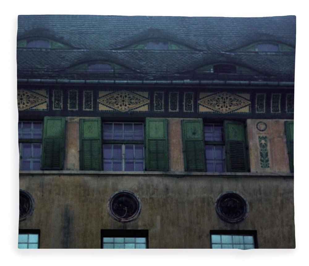 Sighisoara Fleece Blanket featuring the photograph Sighisoara Old Town Eyes by Amalia Suruceanu