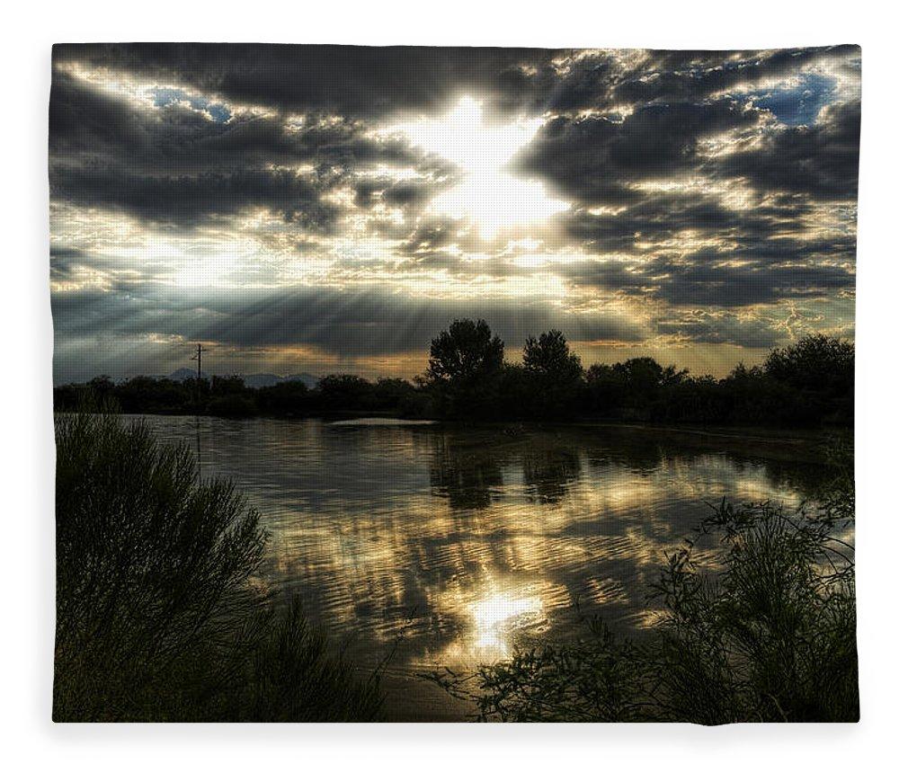 Sunrise Fleece Blanket featuring the photograph Skies Wide Open by Saija Lehtonen