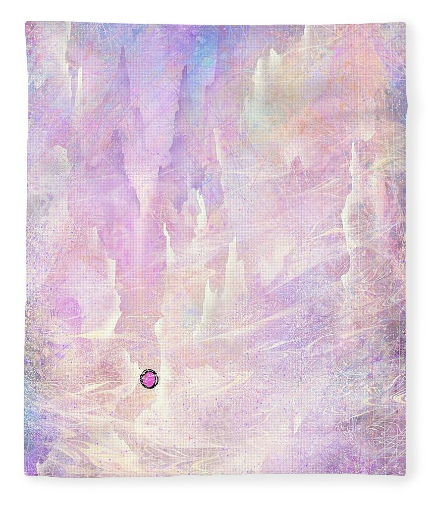 Landscape Fleece Blanket featuring the digital art Stuck in a moment of time by William Russell Nowicki