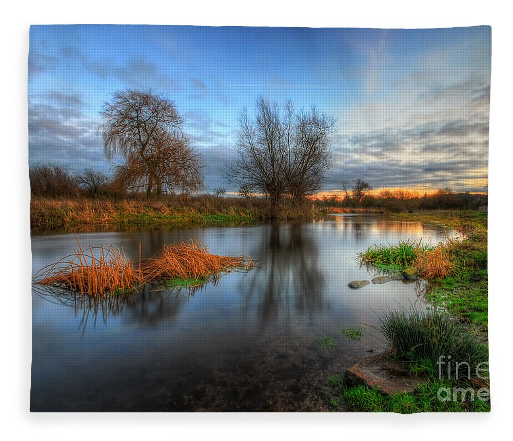 Hdr Fleece Blanket featuring the photograph Swampy 2.0 by Yhun Suarez