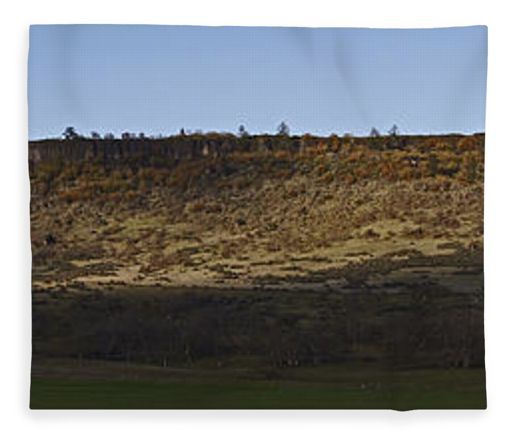 Table Rock Fleece Blanket featuring the photograph Table Rock Panorama by Mick Anderson
