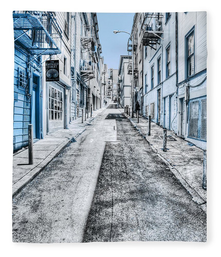 San Francisco Fleece Blanket featuring the photograph Telegraph Hill Blue by Scott Norris