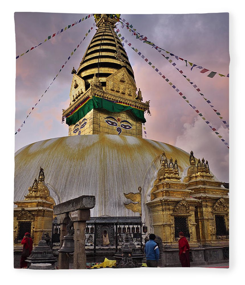 Temple Fleece Blanket featuring the photograph Temple by Ivan Slosar