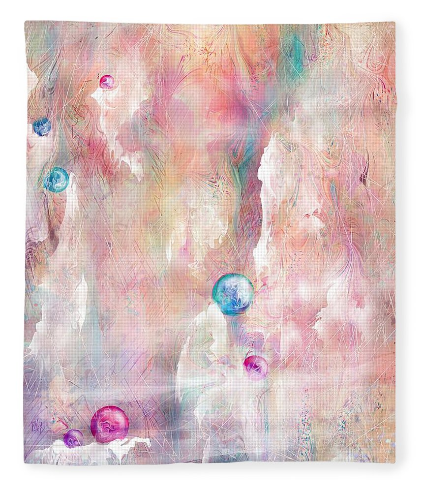 Landscape Fleece Blanket featuring the painting The Lost Marbles by William Russell Nowicki
