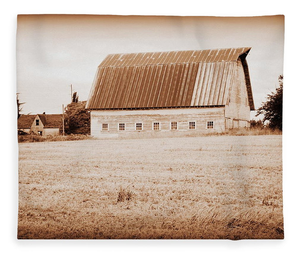Barn Fleece Blanket featuring the photograph This Old Farm II by Kathy Sampson