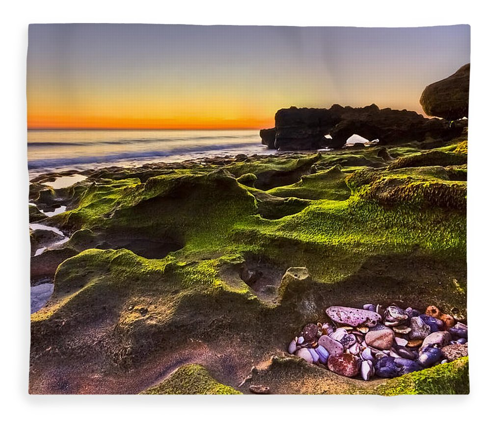 Blowing Rocks Fleece Blanket featuring the photograph Treasure Trove by Debra and Dave Vanderlaan