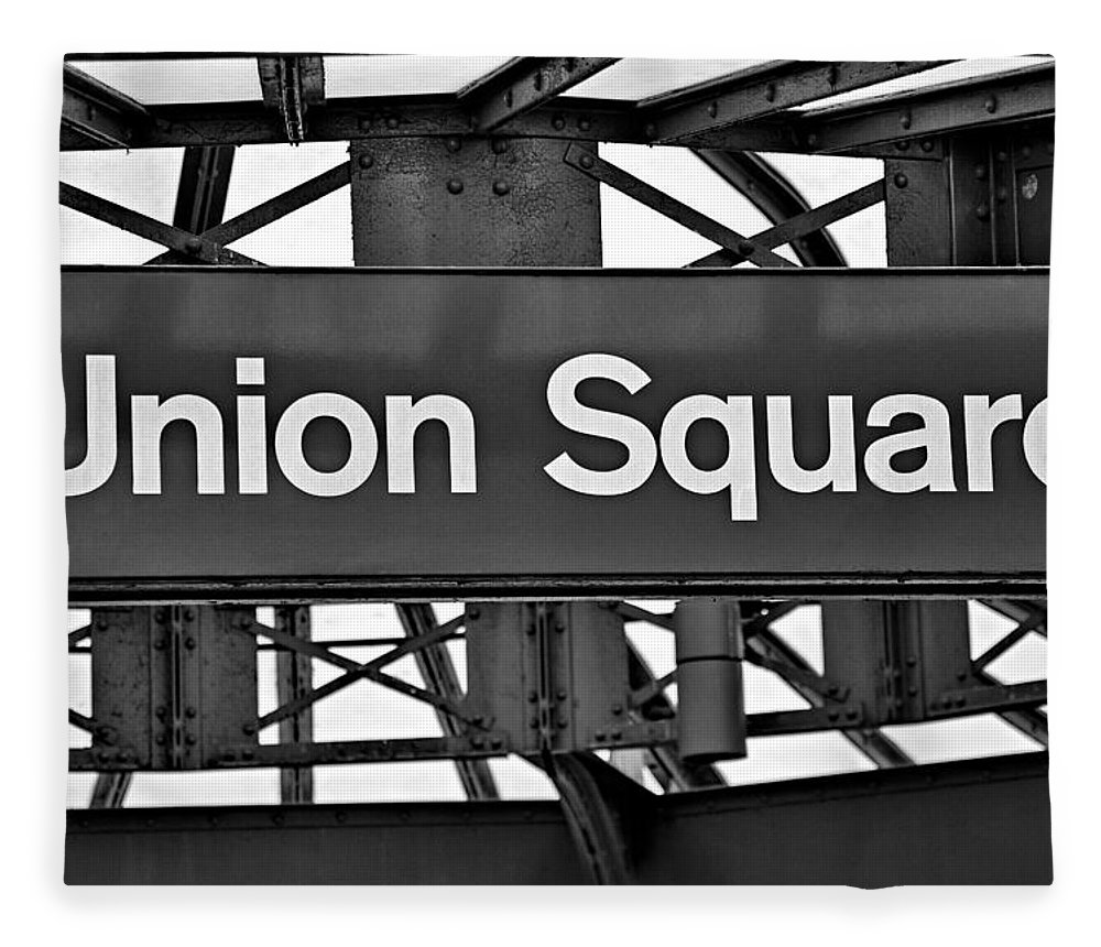 Union Square Fleece Blanket featuring the photograph Union Square by Susan Candelario