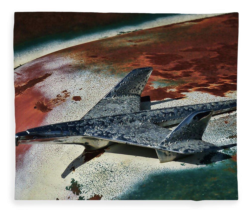 Classic Fleece Blanket featuring the digital art War Bird by Douglas Pittman