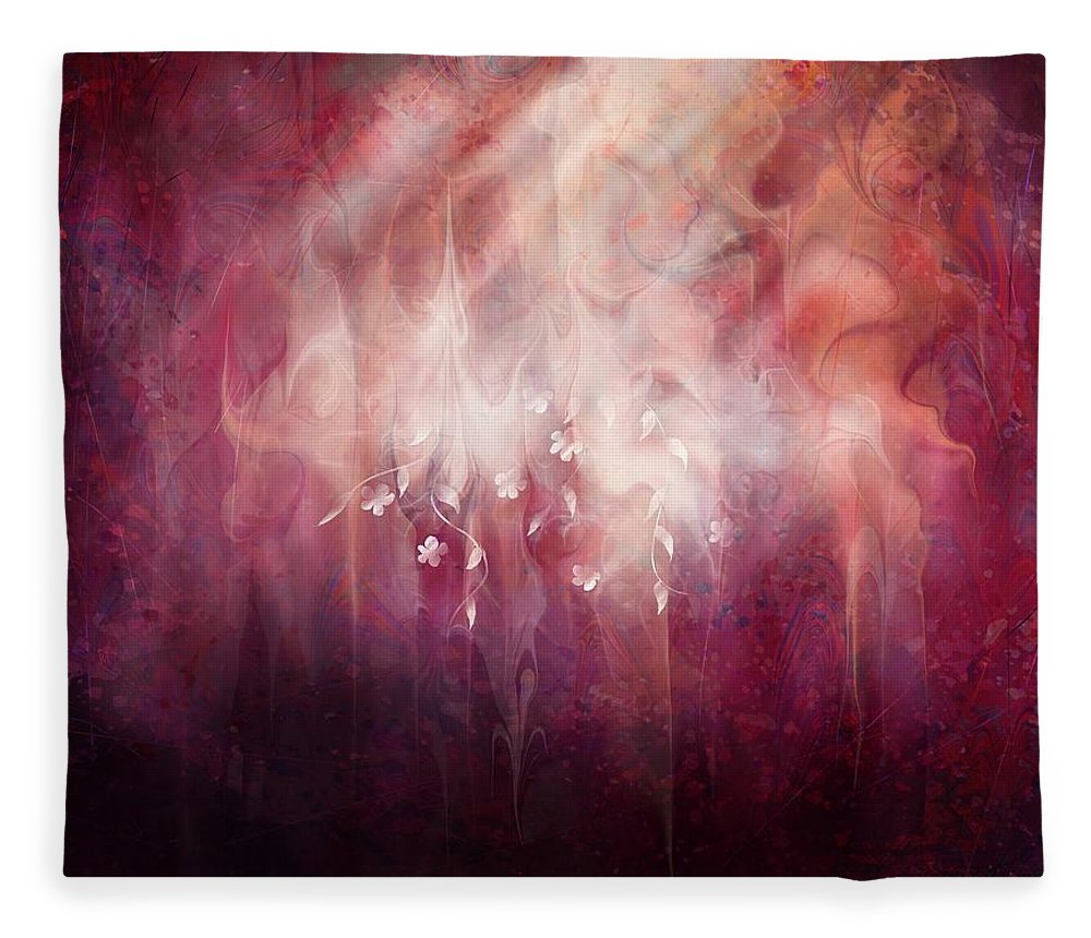 Landscape Fleece Blanket featuring the digital art Weight of Glory by William Russell Nowicki