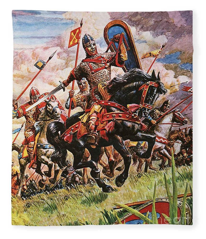 BATTLE OF HASTINGS 1066 WILLIAM THE CONQUEROR PAINTING WAR ART REAL CANVAS PRINT