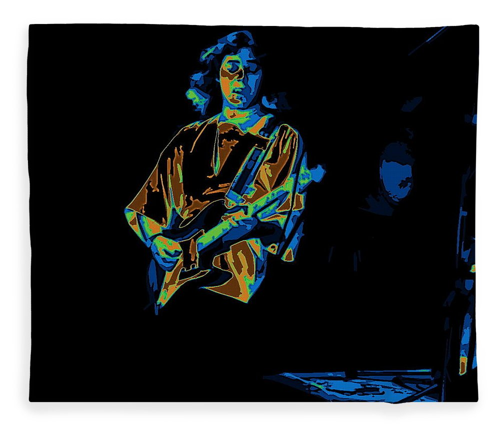 Tommy Bolin Fleece Blanket featuring the photograph Winterland Cosmic Grind by Ben Upham