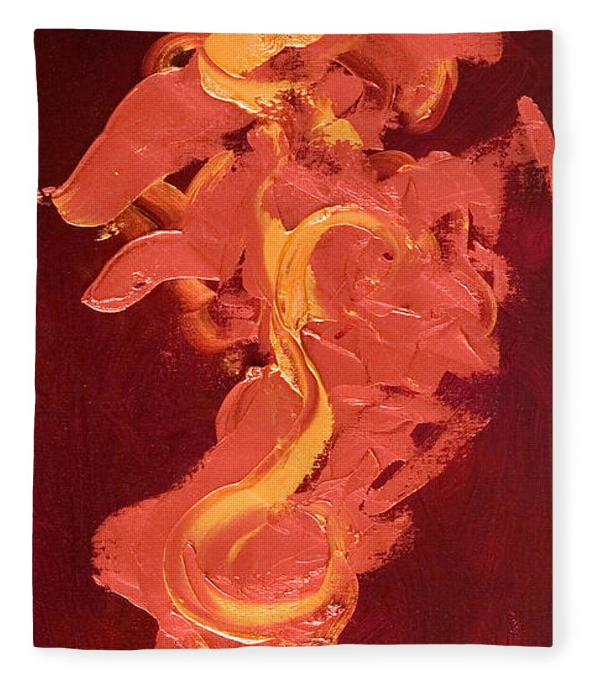 Year Of The Dog Fleece Blanket featuring the painting Year of the Dog by Shannon Grissom