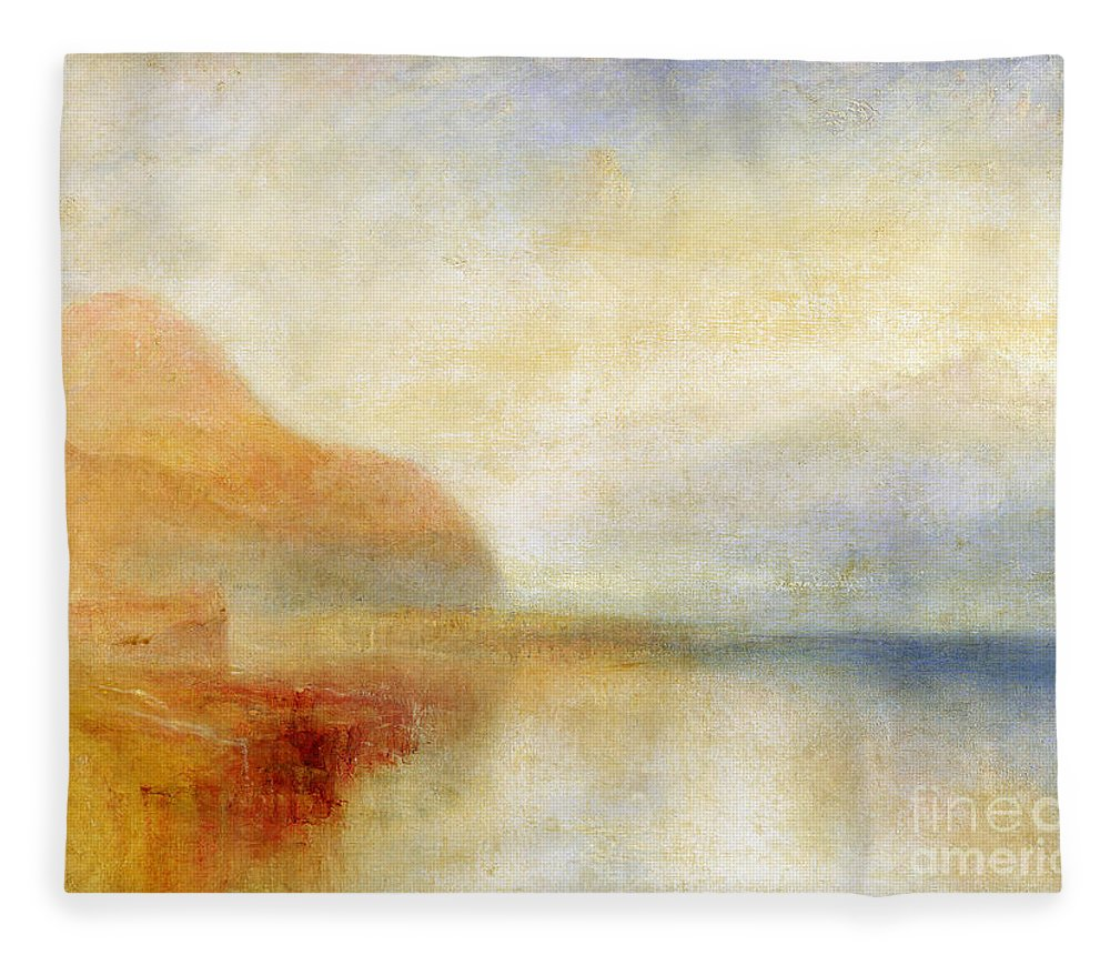 Inverary Fleece Blanket featuring the painting Inverary Pier - Loch Fyne - Morning by Joseph Mallord William Turner