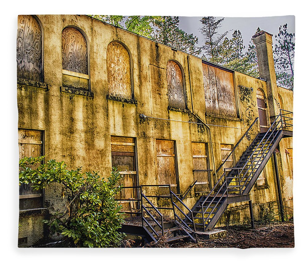 Abandoned Nevada County Hospital... Fleece Blanket for Sale by Shawn ...