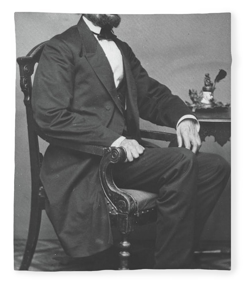 Abraham Fleece Blanket featuring the photograph Abraham Lincoln by Alexander Gardner