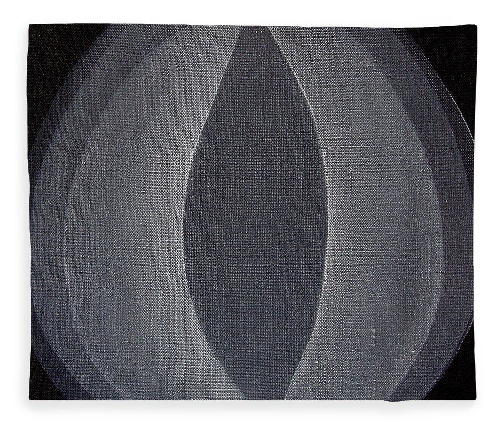 Abstract Fleece Blanket featuring the painting Abstract flower by Jitka Anlaufova