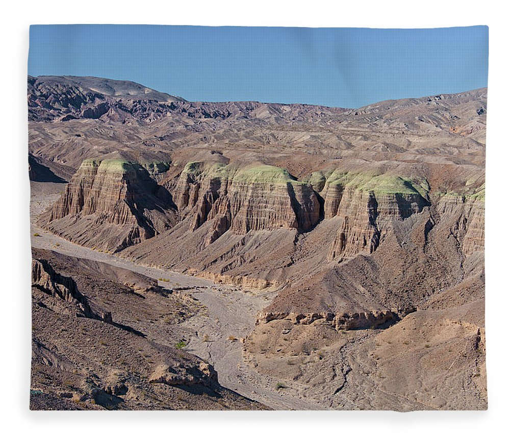 Aerial Shots Fleece Blanket featuring the photograph Afton Canyon by Jim Thompson