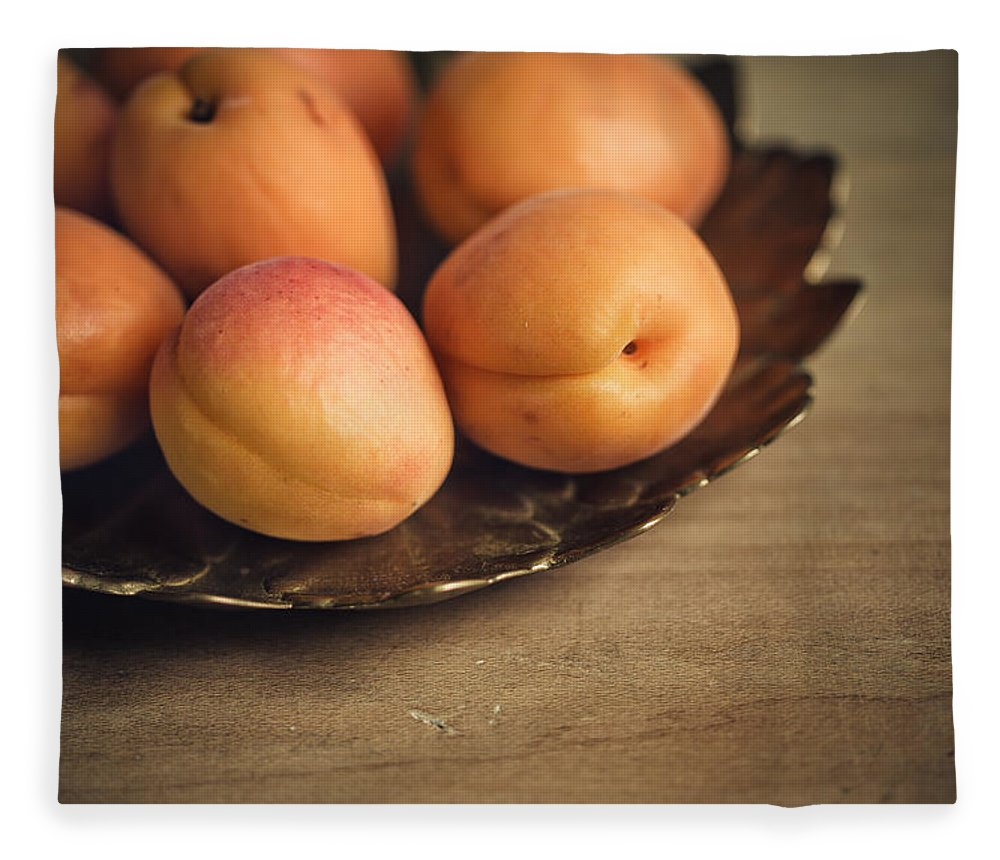 Apricot Fleece Blanket featuring the photograph Apricots by Nailia Schwarz