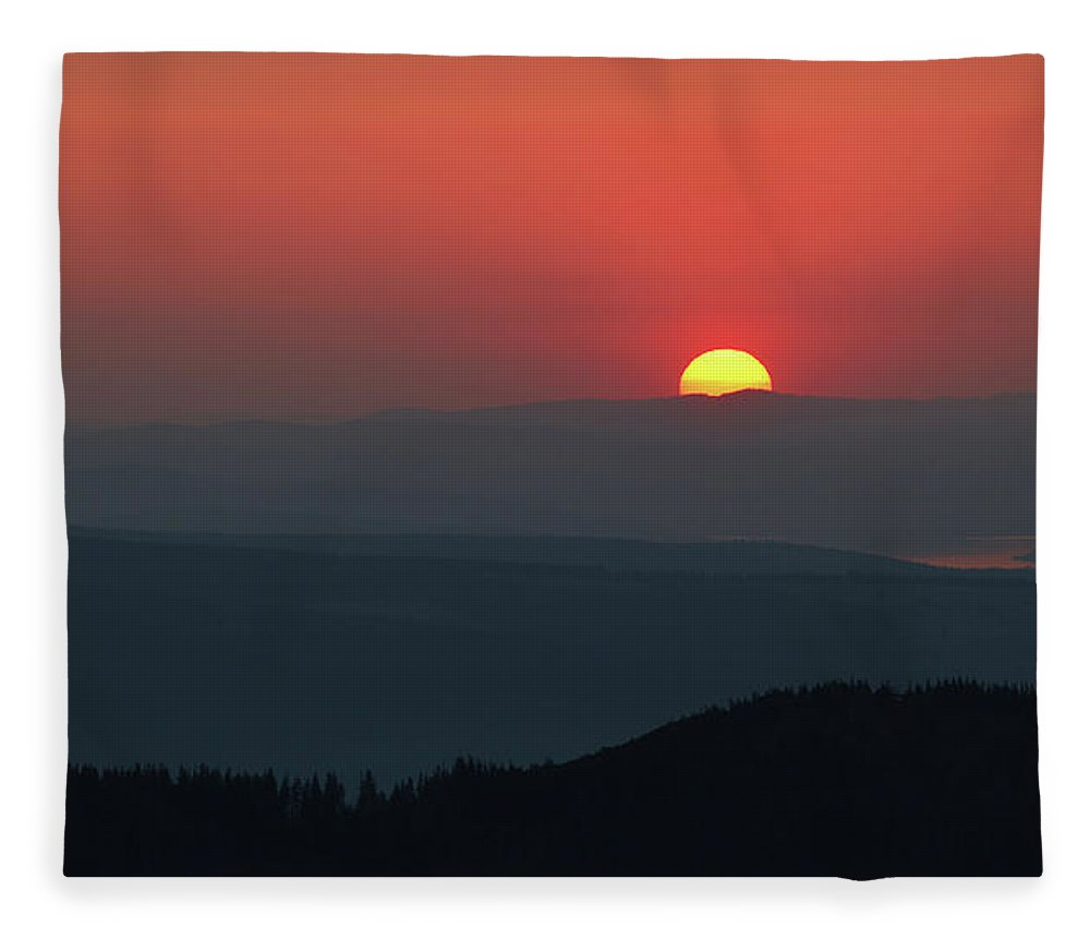 Hill Fleece Blanket featuring the photograph Breathtaking Sunset At Tatra Mountains, Carpathian Region, Poland by Lukasz Szczepanski