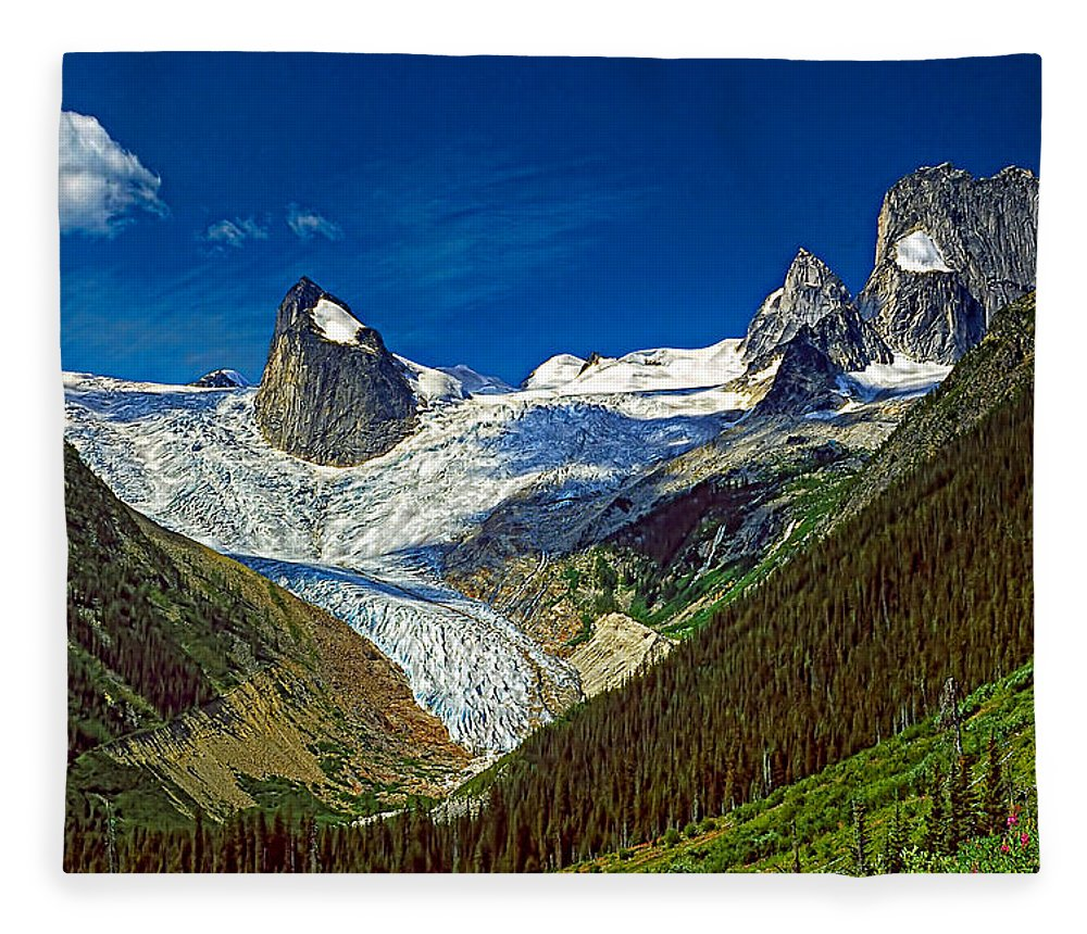 Mountains Fleece Blanket featuring the photograph Bugaboo Spires by Steve Harrington