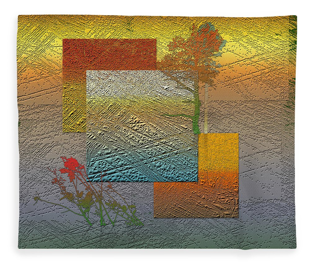 �from Dusk Till Dawn� Collection By Serge Averbukh Fleece Blanket featuring the photograph Early Morning in Boreal Forest by Serge Averbukh