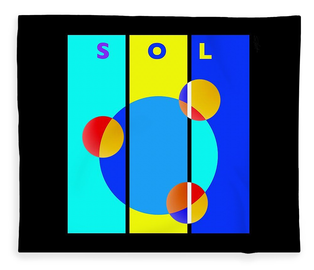 Primary Colors Fleece Blanket featuring the painting Eclipse by Charles Stuart
