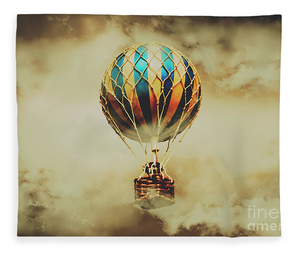 Vintage Fleece Blanket featuring the photograph Fantasy Flights by Jorgo Photography - Wall Art Gallery