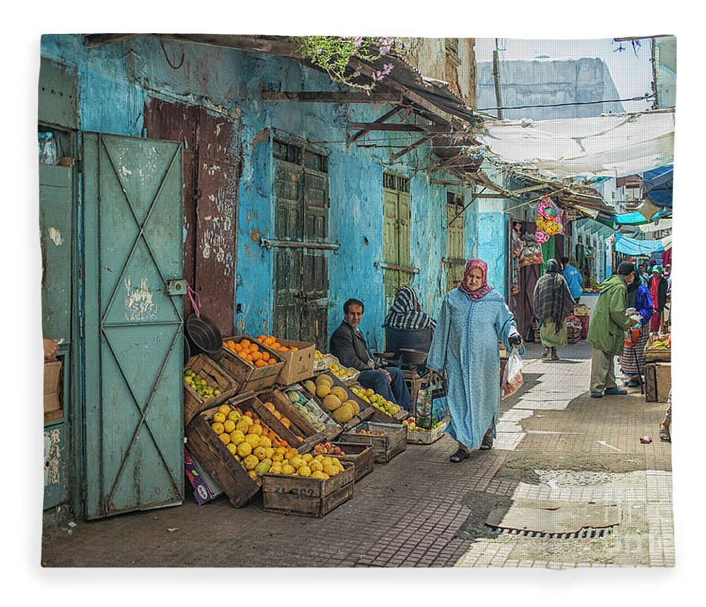 Market Fleece Blanket featuring the photograph In The Souk by Patricia Hofmeester