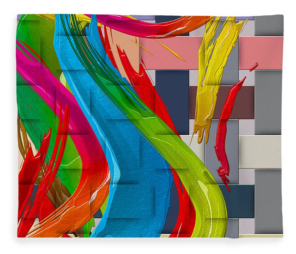 �abstracts Plus� Collection By Serge Averbukh Fleece Blanket featuring the photograph It's a Virgo - The end of Summer by Serge Averbukh