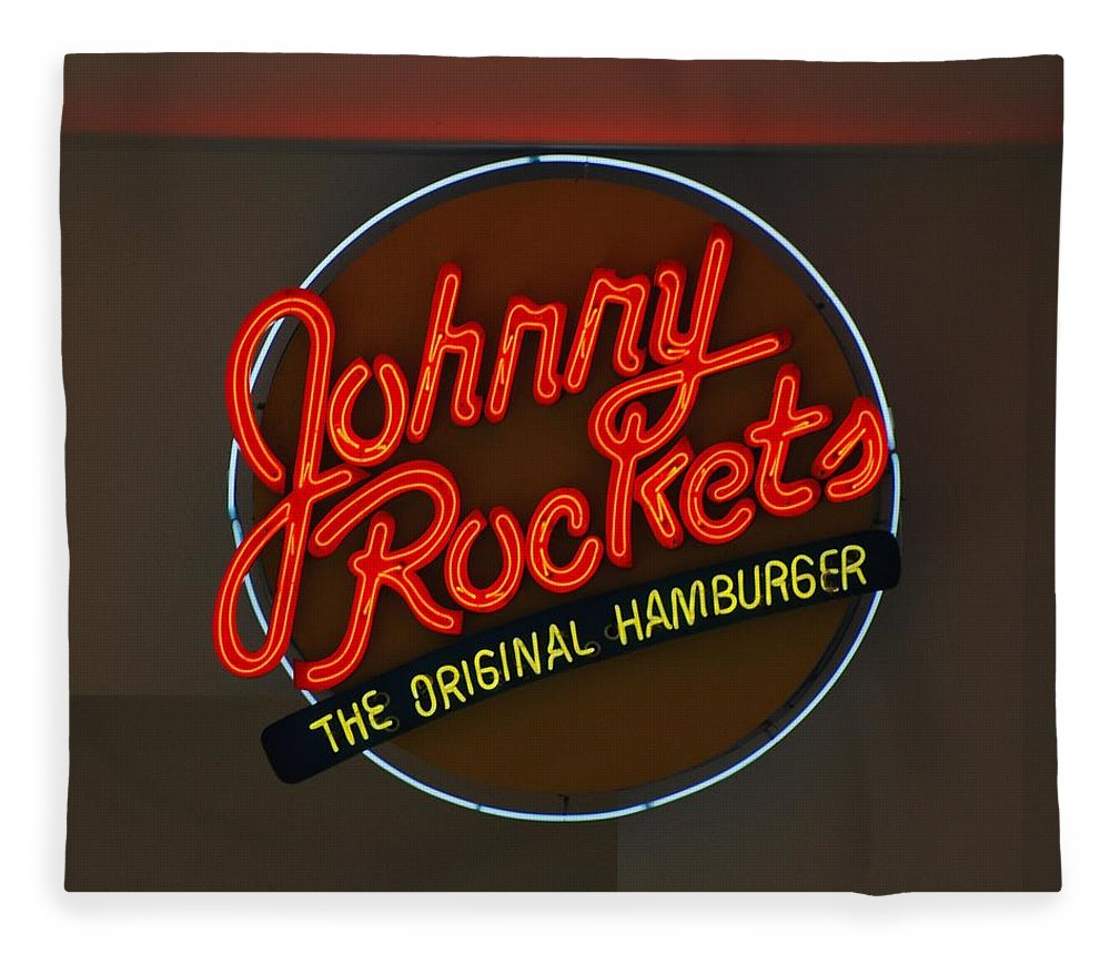 Macro Fleece Blanket featuring the photograph Johnny Rockets by Rob Hans