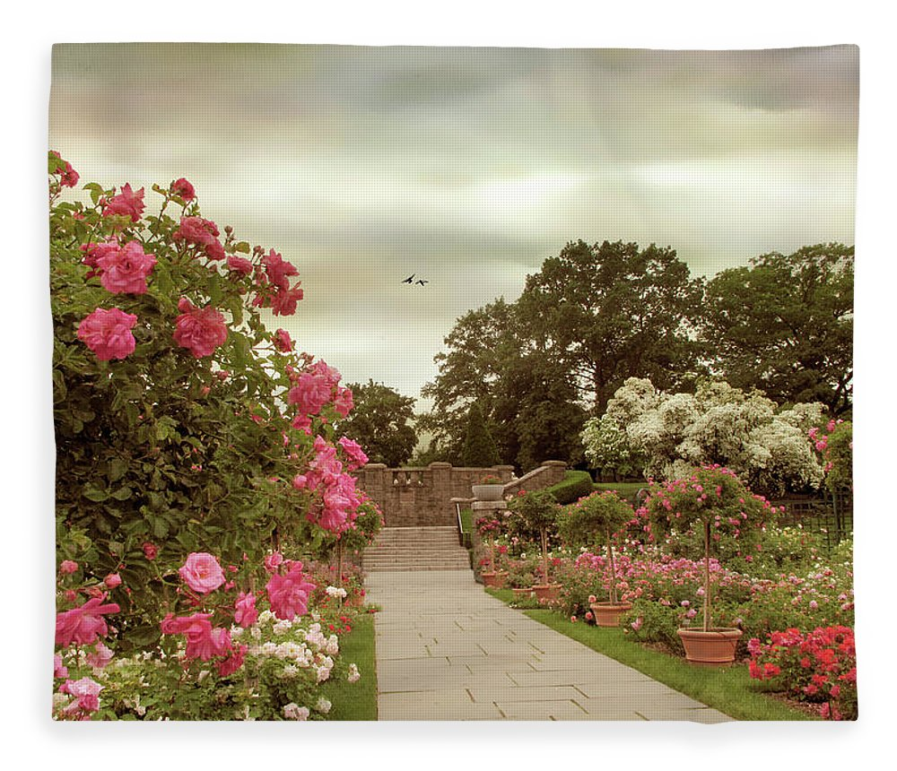 New York Botanical Garden Fleece Blanket featuring the photograph June In Bloom by Jessica Jenney