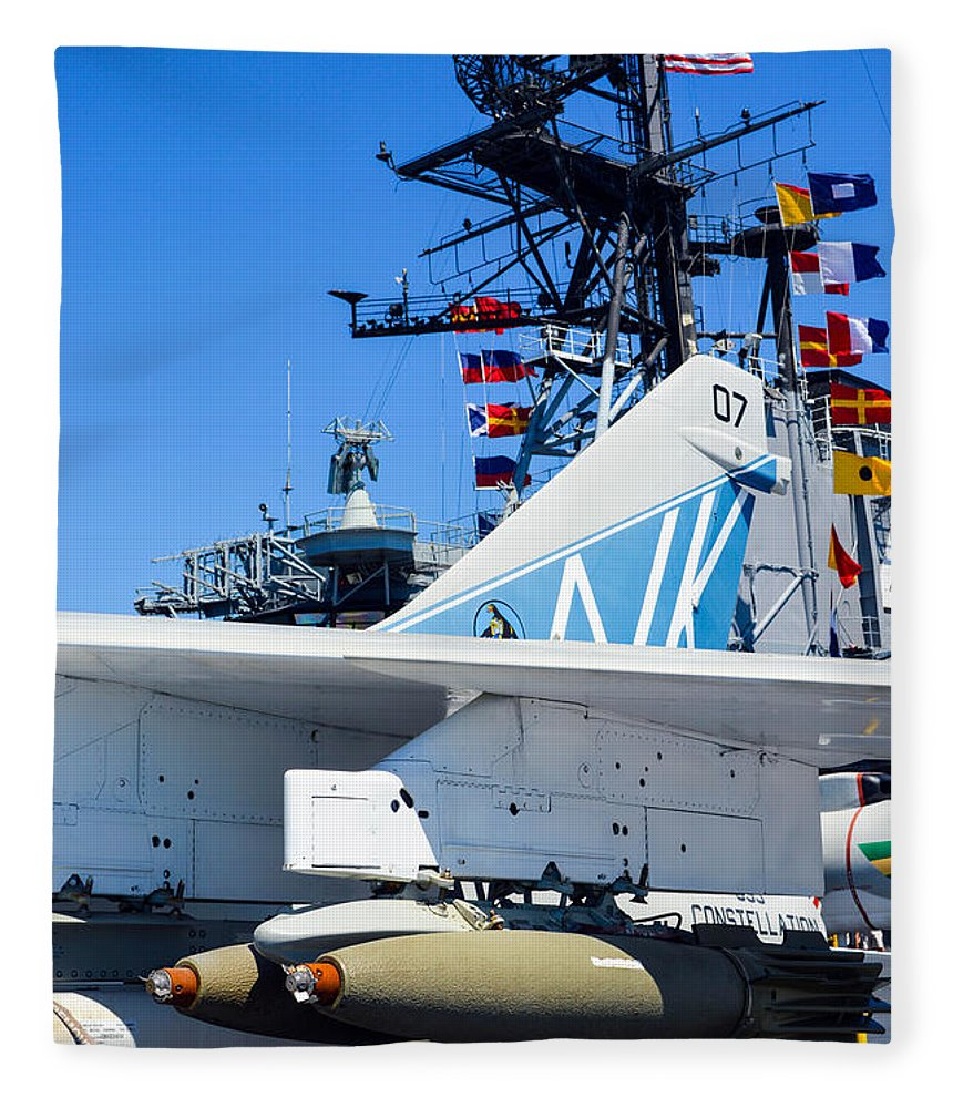 2014 Fleece Blanket featuring the photograph Ltv A-7 Corsair II by Tommy Anderson