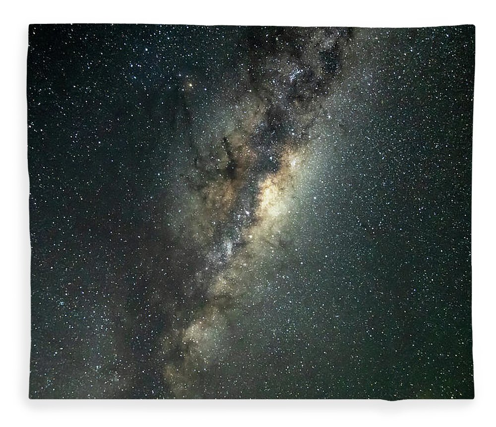 Catherine Hill Bay Fleece Blanket featuring the photograph Milky Way With Mars by Merrillie Redden