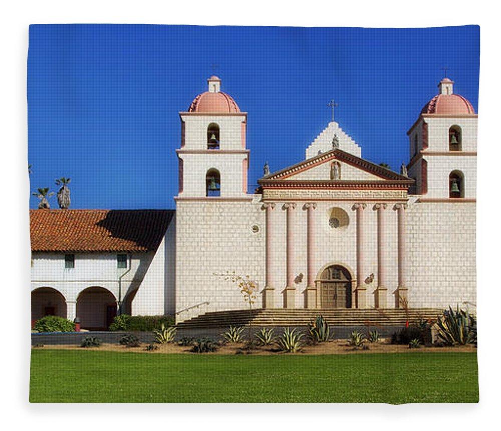 Mission Santa Barbara Fleece Blanket featuring the photograph Mission Santa Barbara by Mountain Dreams