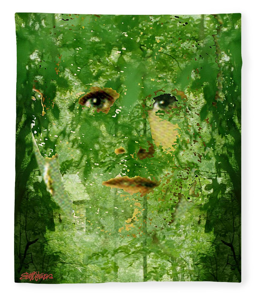 Lady Fleece Blanket featuring the digital art Mother Nature by Seth Weaver