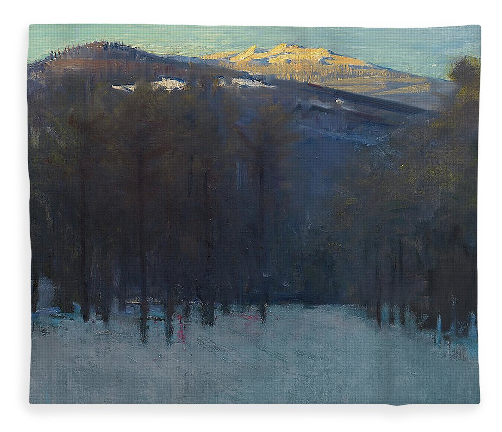 Mount Fleece Blanket featuring the painting Mount Monadnock by Abbott Handerson Thayer