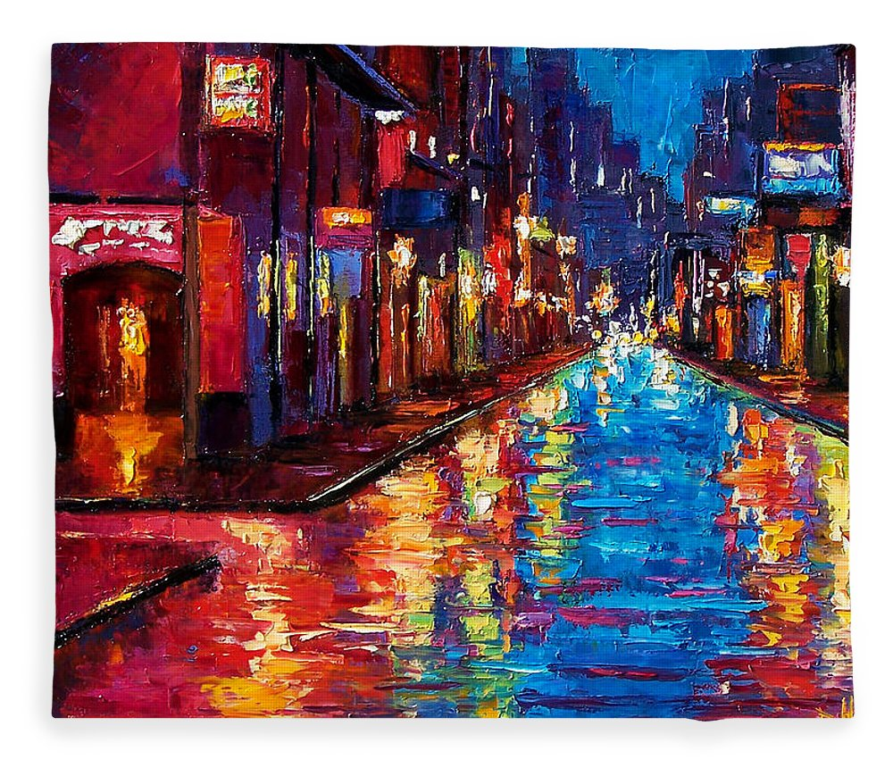 New Orleans Art Fleece Blanket featuring the painting New Orleans Magic by Debra Hurd