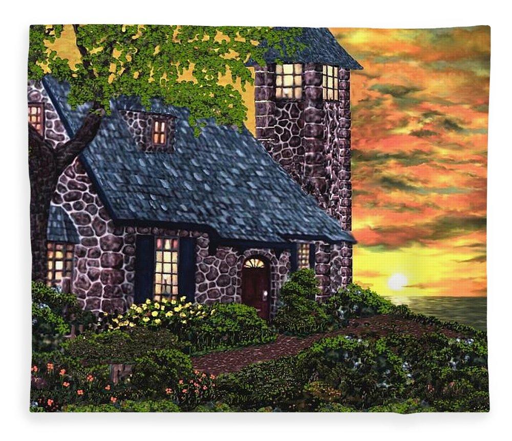 Painting Fleece Blanket featuring the digital art Painting by Bert Mailer