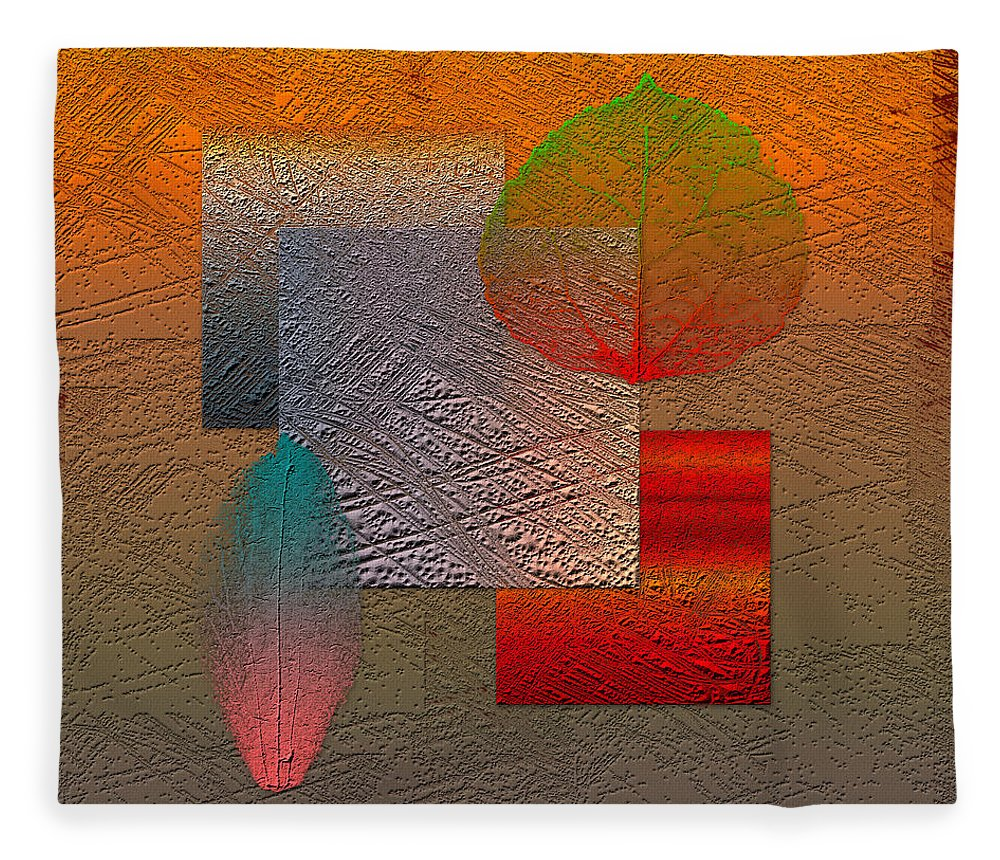 Abstracts By Serge Averbukh Fleece Blanket featuring the photograph Quiet Sunset at the End of Northern Summer by Serge Averbukh