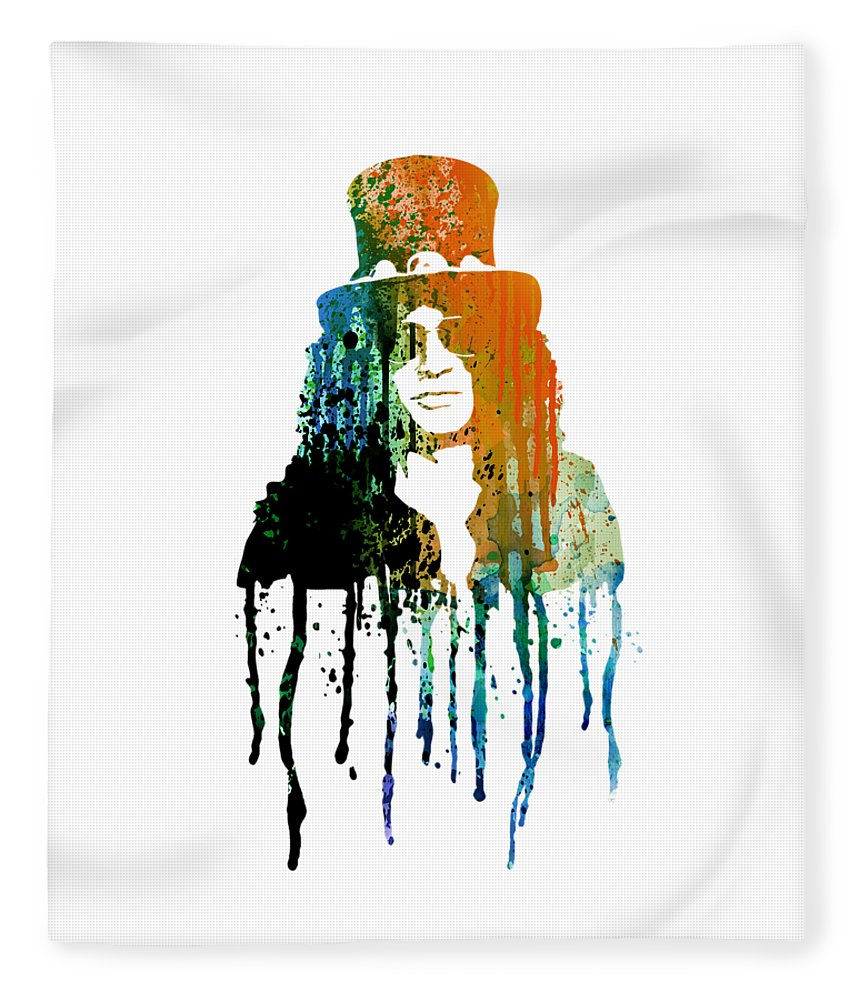 Slash Fleece Blanket featuring the painting Slash by Art Popop