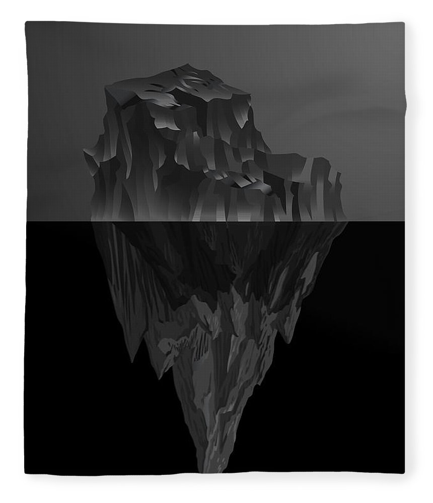 'black On Black' By Serge Averbukh Collection Fleece Blanket featuring the photograph The Black Iceberg by Serge Averbukh