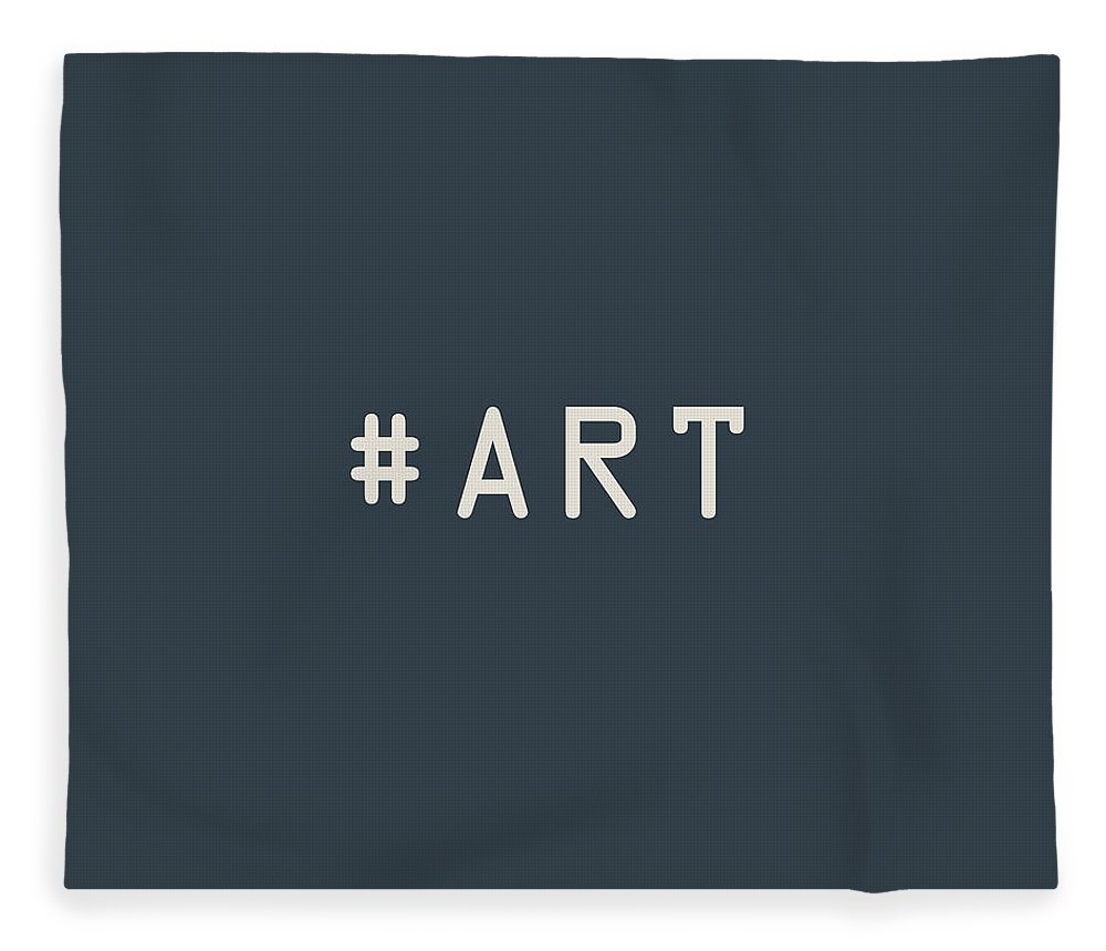 The Meaning Of Art By Serge Averbukh Fleece Blanket featuring the photograph The Meaning of Art - Hashtag by Serge Averbukh