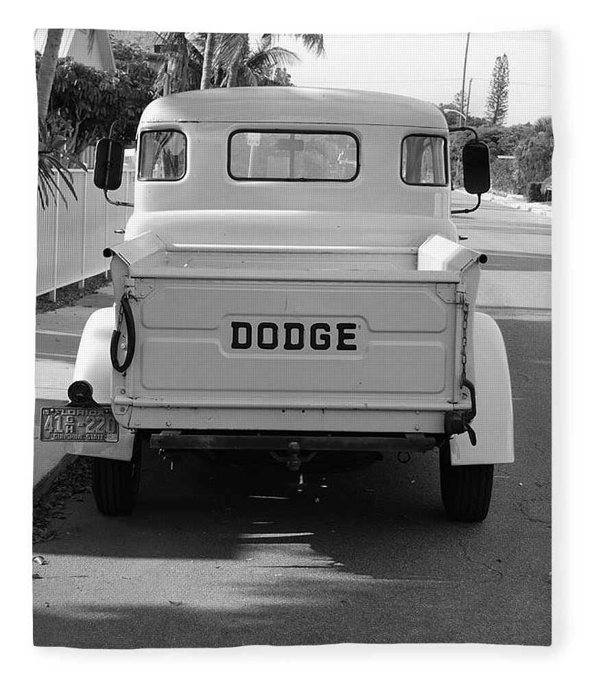 Black And White Fleece Blanket featuring the photograph The Old Dodge by Rob Hans