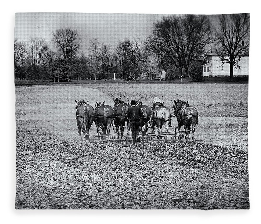 Agriculture Fleece Blanket featuring the photograph Tilling The Fields by Tom Mc Nemar