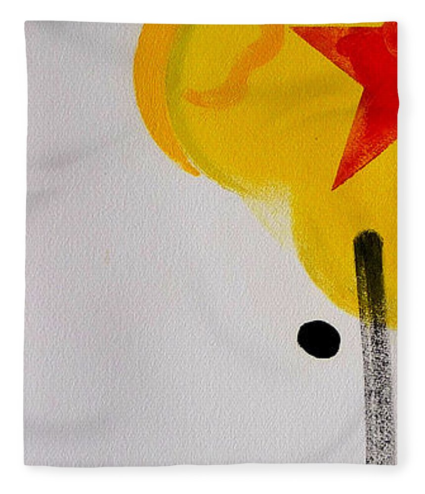 Drawing Fleece Blanket featuring the painting UN by Charles Stuart