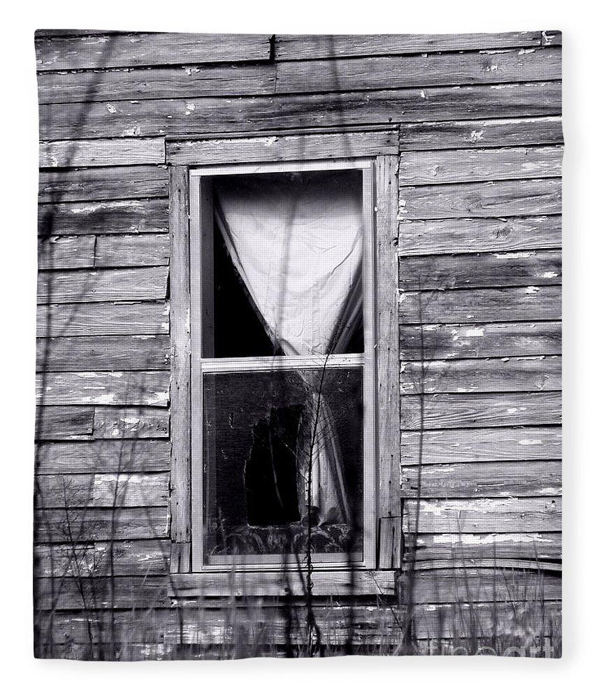 Windows Fleece Blanket featuring the photograph Window by Amanda Barcon